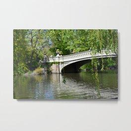 Bow Bridge in Springtime Metal Print