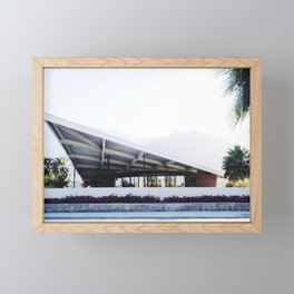 Midcentury modern building Palm Springs Framed Mini Art Print