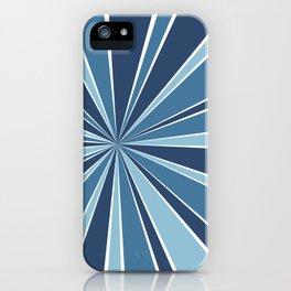 Star Burst Blues iPhone Case