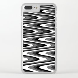 Monochromatic black white slur Clear iPhone Case