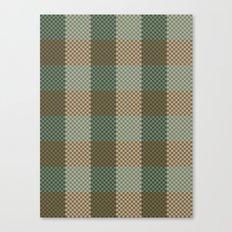 Pixel Plaid - Birch Forest Canvas Print