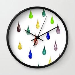 Raindrops V3 Wall Clock