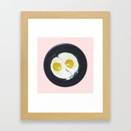 Yin-yang breakfast Framed Art Print