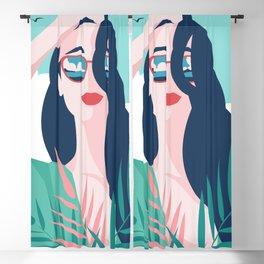 Vibrant Summer Woman Blackout Curtain