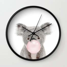 Bubble Gum Baby Koala Wall Clock