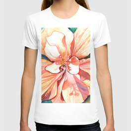 Double Peach Tropical Hibiscus T-shirt