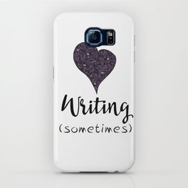 I Love Writing (Sometimes) iPhone Case