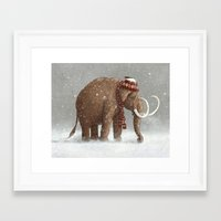 brown Framed Art Prints featuring The Ice Age Sucked by Terry Fan