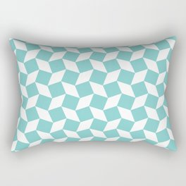 Aqua Op Art Pattern Rectangular Pillow