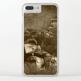 Cars in the jungle Clear iPhone Case