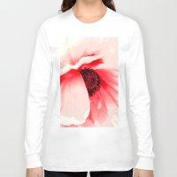 poppy Long Sleeve T-shirts featuring Poppy  by Falko Follert Art-FF77