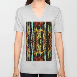 Colorful Indian Pattern Unisex V-Neck