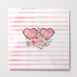 La Vie en Rose (Rose Colored Glasses) #society6 Metal Print