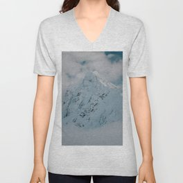 White peak - Landscape and Nature Photography Unisex V-Neck