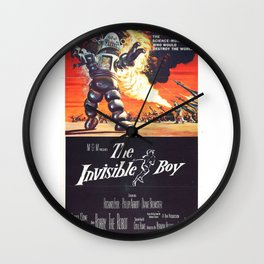 Vintage Classic Movie Posters, The Invisible Boy Wall Clock