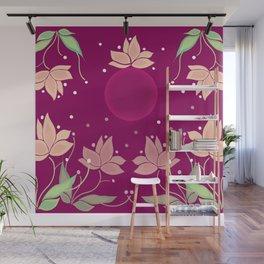 Purple Moon in my Flower Garden Wall Mural