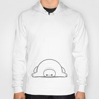 baymax Hoodies featuring baymax by Eric Si