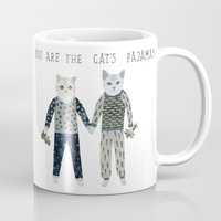 toddler Mugs featuring You are the Cat's Pajamas by Yuliya