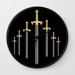 Templar Swords Wall Clock