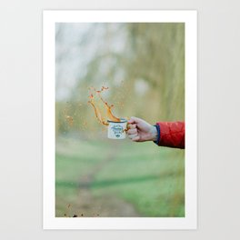 Spill the Coffee (Color) Art Print