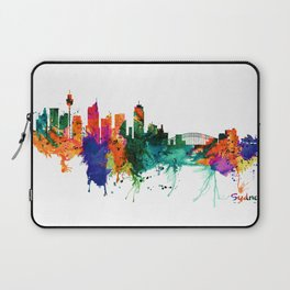Sydney watercolor skyline Laptop Sleeve