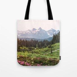 Mountain Wildflower Hiking Highs - 74/365 Tote Bag