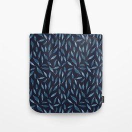Blue watercolor leaves Tote Bag