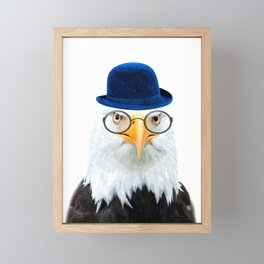 Funny Eagle Portrait Framed Mini Art Print