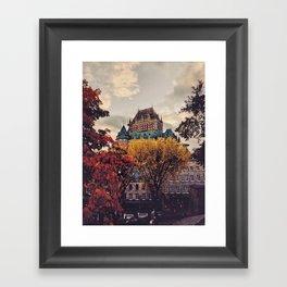 Fall Chateau Framed Art Print