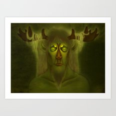 Horned Deity Art Print