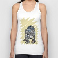 r2d2 Tank Tops featuring R2D2 by Rebecca Bear