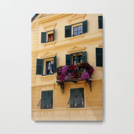 The Yellow Facade Metal Print