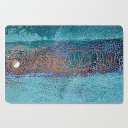Rust and Cracks Turquoise Cutting Board