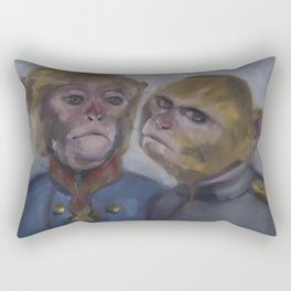 Monkey brothers Rectangular Pillow