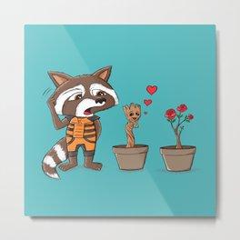 Groot in love parody Metal Print