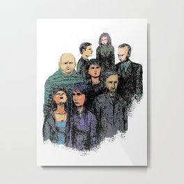 Gaggle of Strangers Metal Print