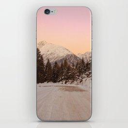 Snow Sunset in Mestia, Georgia iPhone Skin