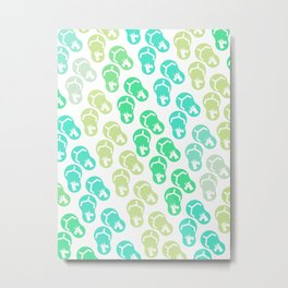 Flip Flop Unicorn Metal Print
