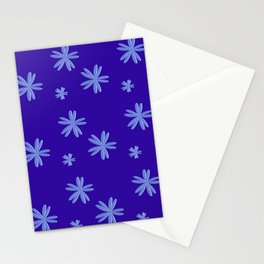 Blue Floral Pattern elegant & simple  Stationery Cards