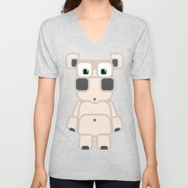 Super cute cartoon white pig - bring home the bacon with everything for the pig enthusiasts! Unisex V-Neck