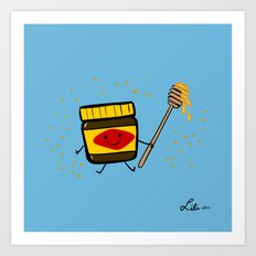 Vegemite Honey Art Print