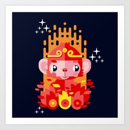 Fire Monkey Year Art Print