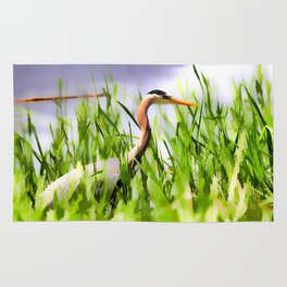 Master of the Marshes  -  Blue Heron Rug
