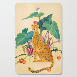 Cheetah and Apples Cutting Board