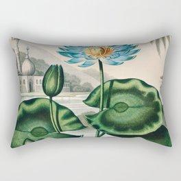Robert John Thornton - The Blue Egyptian Water-Lily Rectangular Pillow