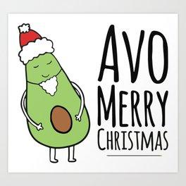 Avo Merry Chrsitmas Art Print