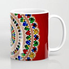 Concentrics on Crimson, 2080m1 Coffee Mug