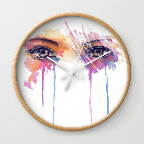 Rainbow Tears Wall Clock