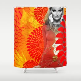 Supermodel Samantha 1 - Supermodels of the Sixties Series Shower Curtain