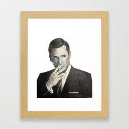 Don Draper's Blue Smoke Framed Art Print